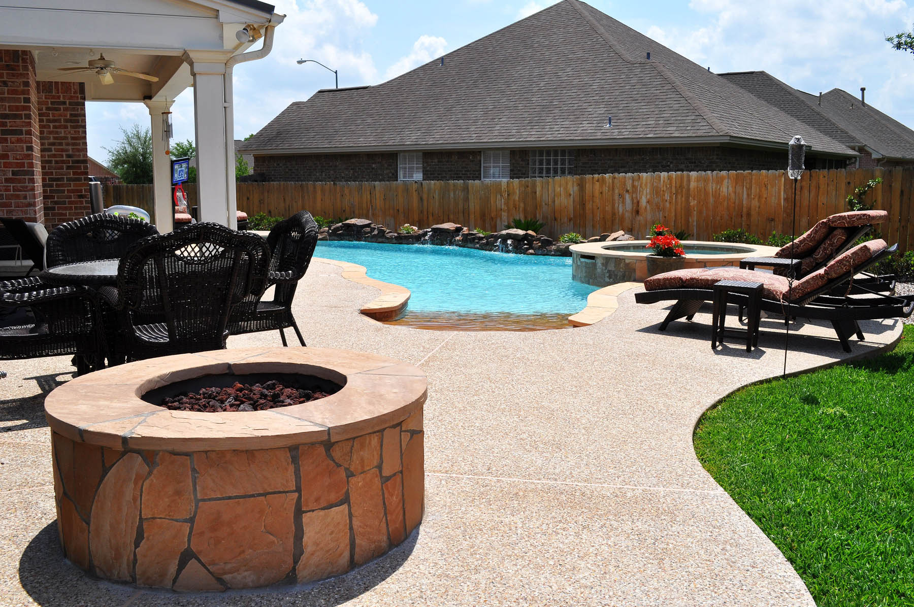 outdoor living photos bryan college station pool builder