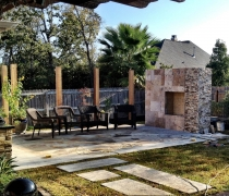Outdoor-Stone-Entertainment-with-Fireplace