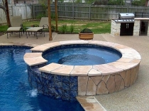 Outdoor living photos bryan college station pool builder for Outdoor kitchen builders near me