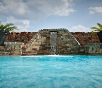 Handcrafted-Stacked-Stone-Wall-with-Custom-Water-Scupper